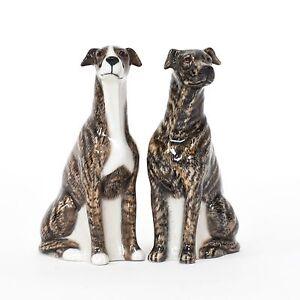 Quail Ceramics   Salt & Pepper Pots   Brindle Greyhound