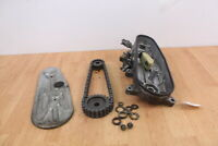 1979 YAMAHA ET 340 ENTICER Chain Case With Cover & Sprockets 13/22 Gears