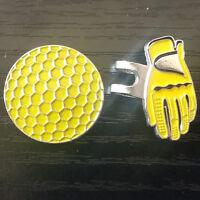 Fashion Glove+Ball Design Hat Cap Clip Removable Metal Golf Ball Marker ASt