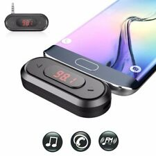 Doosl 3.5mm FM Transmitter Wireless Audio Radio Adapter In-Car Kit for iPhone