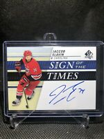2019-20 SP Authentic Jaccob Slavin Sign Of The Times Auto