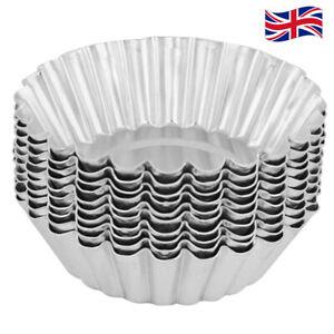 10pcs Egg Tart Aluminum Cupcake Cake Cookie Mold DIY Mould Tin Baking Tool - UK