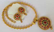South Indian Traditional Jewellery gold TONE R/G new design necklace set earring