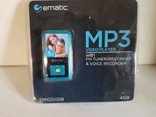 Ematic 4GB Video Blue MP3 Player FM Radio & Voice Recording EM102VIDB
