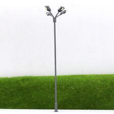 LSL04 5pcs Model Railway Lamppost Lamps Led Street Lgihts Yard OO/HO Scale 12V