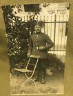 GREAT ORIGINAL WW1 GERMAN SOLDIER PHOTO POSTCARD POSED