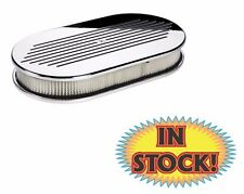 Billet Specialties Air Cleaner ? Large Oval Ball Milled Polished 15420