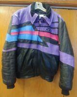 Vintage Mens Hein Gericke Polaris Indy XLT snowmobile Leather Jacket mens medium