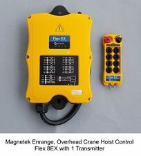 Magnetek Flex 8EX 8EX2 w/1-TX, Overhead Crane Hoist Radio Remote Control System
