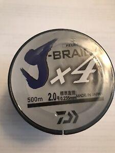 Daiwa j-braid x4 braided fishing line 500m / 546 YARDS! New 31lb White