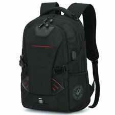 New Mens Oxford School Backpack Satchel Laptop Notebook Zipper Travel Bag BL
