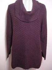 Style & CO Women Cowl Neck Pullover Sweater, Winter Purple , SIZE: 0X  $ 56.50