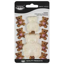 Kit 2x Stampini JEM orso orsacchiotto decorazione pressione torte cake design