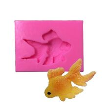 Gold Fish Silicone Fondant Mould Chocolate Sugarcraft Cake Mold Baking Tool DIY