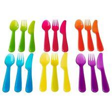 IKEA KALAS 18PC  Kids Plastic Flatware Set Spoon Forks Knives Party BPA Free NEW