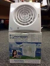 "Monsoon Silence MON-S100T 4"" Silent Timer Fan IP45 *FREE P&P"