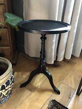 Black Round Side Wine Table