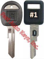 NEW GM Single Sided VATS Ignition Key #1 + Doors/Trunk OEM Key