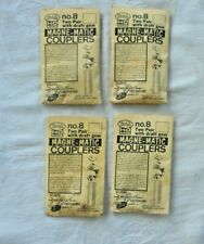 HO KADEE #8 MAGNE-MATIC COUPLERS WITH DRAFT GEAR-4 PACKS OF 2 PAIR EA.