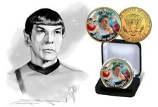 Star Trek -  The Collective 24Kt Gold Plated Uncirculated JFK Half Dollar Coin