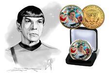 Star Trek-Le Collectif 24Kt plaqué or universel JFK demi-dollar coin