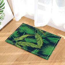 Tropical green palm leaf Decor bathroom Non-Slip Outdoor Indoor Front Door Mat