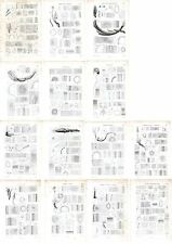 Stampe antiche botanica VALERIANA serie completa 14 tavole 1872 Old prints