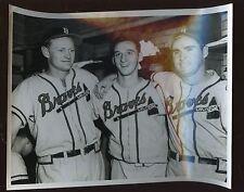 Original 1950's Warren Spahn Milwaukee Braves 8 X 10 Photo