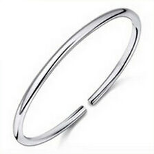 New 925 Sterling Silver Solid Charm Adjustable Cuff Bangle Bracelet Fashion Gift