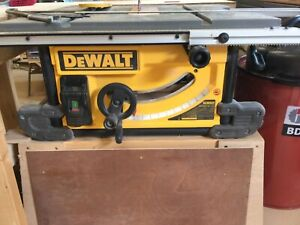 Dewalt DWE 7491 Saw with Lumber Jack 50L Extractor.