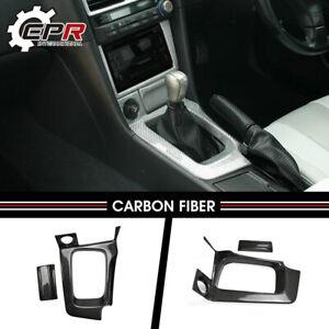 For Nissan R34 GTR (RHD) Carbon Fiber Gear Surround & Ashtray Stick On Type Kits