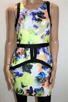 Dotti Brand Multicolour Floral Print Sleeveless Peplum Dress Size 12 BNWT #SX59