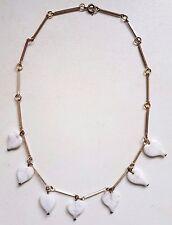 VINTAGE 1930s ART DECO VENEZIANA SWIRL IN VETRO FOGLIA Collana di Perline