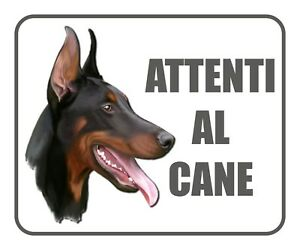 Cartello Adesivo Attenti al Cane