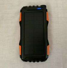 Solar Power Bank Battery Waterproof Charge Dual USB 25000mAh
