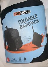 Black rucksack backpack laptop travel bag. Folds up into carry pouch. BNIP