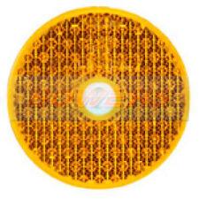 Ambre Orange vis sur le côté Réflecteur 60 mm Rond Caravane IFOR WILLIAMS Remorque