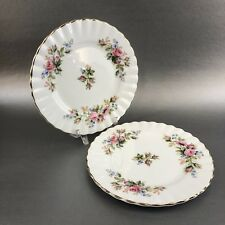 "Royal Albert Moss Rose Pair Of 6"" Bread Side Plate English Bone China England"