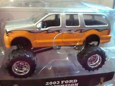 Jada Just Trucks 1:64 Scale, 2003 Ford Excursion Monster Truck. Diecast Metal.