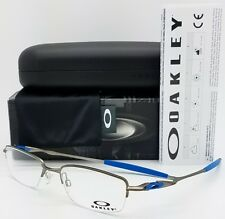 NEW Oakley OX3129 RX Eyeglass Frame Gunmetal Blue OX3129-1053 53mm Rimless Half