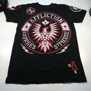 AFFLICTION GEORGES St PIERRE RUSH MMA MIXED MARTIAL ARTS FIGHTER TEE T SHIRT M