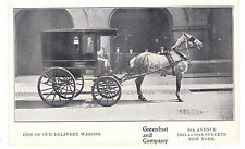 FAB GREENHUT & CO. HORSE DRAWN DEPARTMENT STORE DELIVERY WAGON, 6TH &18TH ST. NY