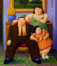 "Art Repro oil painting:""Fernando Botero Portrait at canvas"" 24x36 Inch #063"