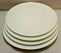 "Mikasa Loria White Bone China 8 1/4"" Salad Plates Set of Four New"