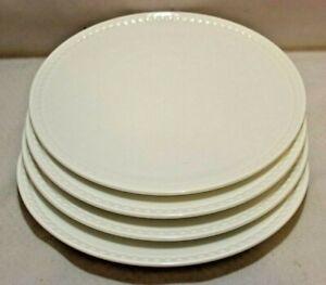 "Mikasa Loria White Bone China 8 1/4"" Salad Plates Set of Four New"