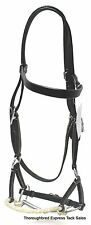D.A. Brand Black Leather Brow Band Sidepull w/Bit horse tack equine