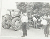 Vintage Massey Ferguson Photograph of a tractor crash