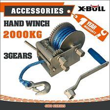 X-BULL Hand Winch 2000kg Dyneema Rope 3speed-Car Boat  Marine Trailer  warranty