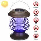 Solar Powered LED Mosquito Killer Light Insect Repeller Bug Zapper Garden Lamp