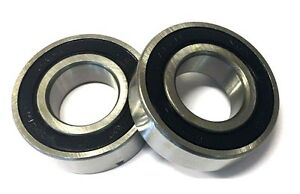 PAIR OF 6205 RS BEARINGS DUAL SIDE RUBBER SEAL  6205-RS